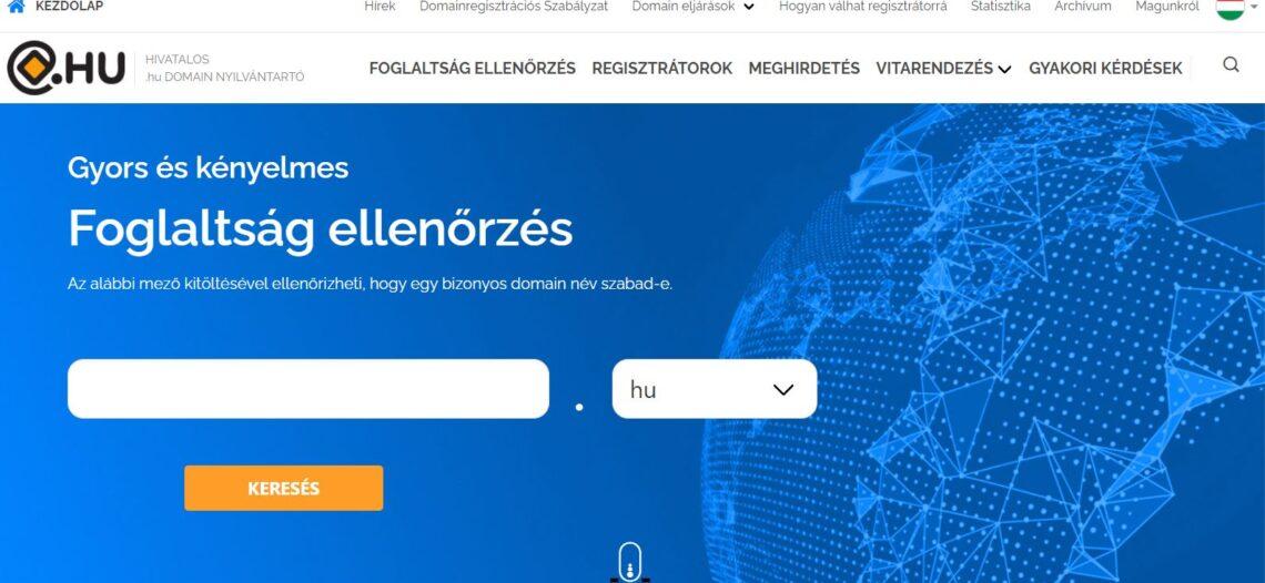 Megújult a .HU domain Nyilvántartó oldala!